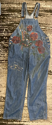 Artist painted overalls