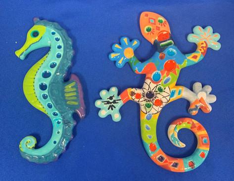 gf pottery seahorse and gecko.jpg
