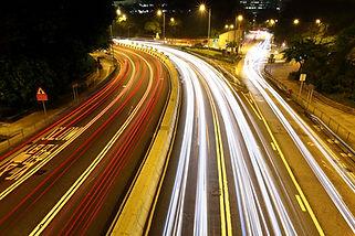 trilha rilhante de caminho de carros