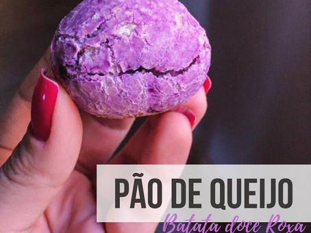 Pão de queijo - Batata doce roxa