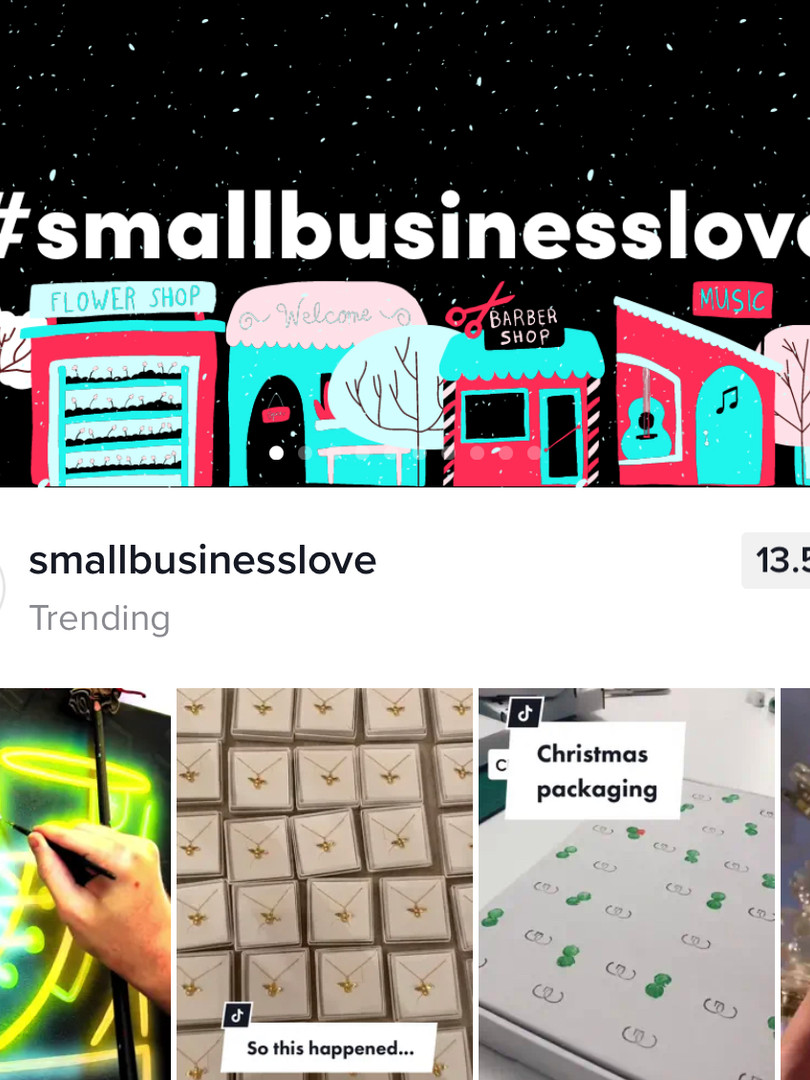 Christmas packaging feature on the trending page