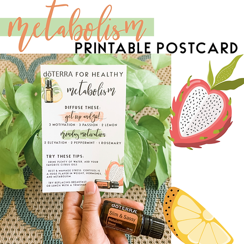 Master your Metabolism Printable Postcard