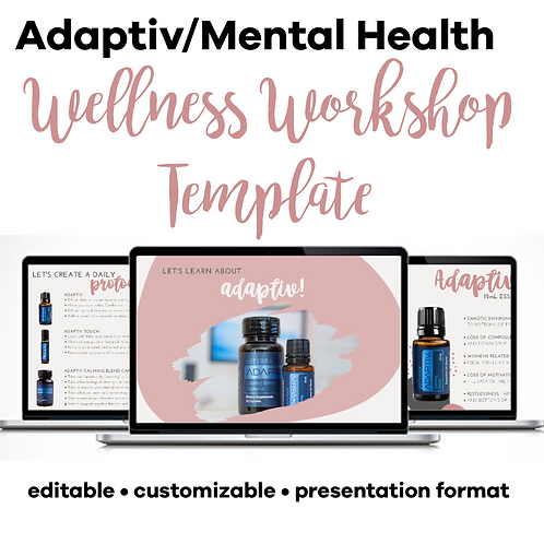 Adaptiv/Mental Wellness Class Template