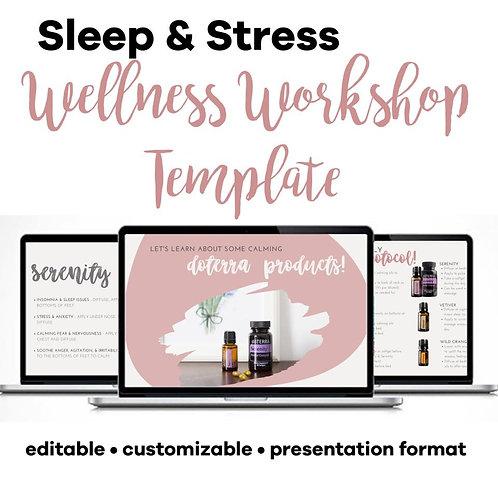 Sleep & Stress Class Template