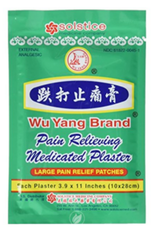 Wu Yang Pain Relieving, Medicated Plasters - SOLSTICE MEDICAL COMPANY