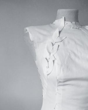 Toile, dando forma a un vestido de novia