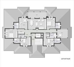 4 çatı katı planı
