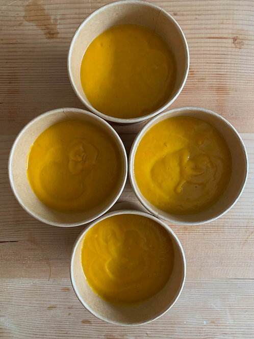 Thai Butternut squash soup with lentils & coconut serves 2