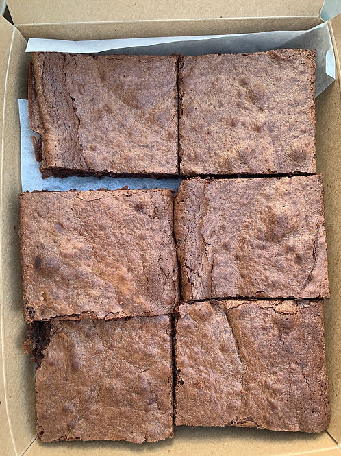 12 Molten dark chocolate brownies