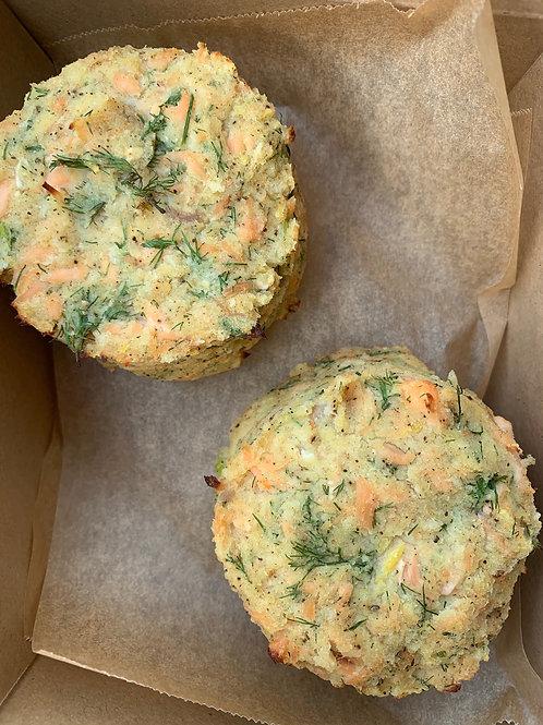 Salmon, potato & dill cakes serves 2