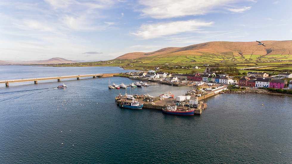 Harbour and village of Portmagee, S. Kerry, Ireland