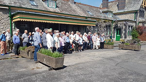 Group outside Tavistock North station