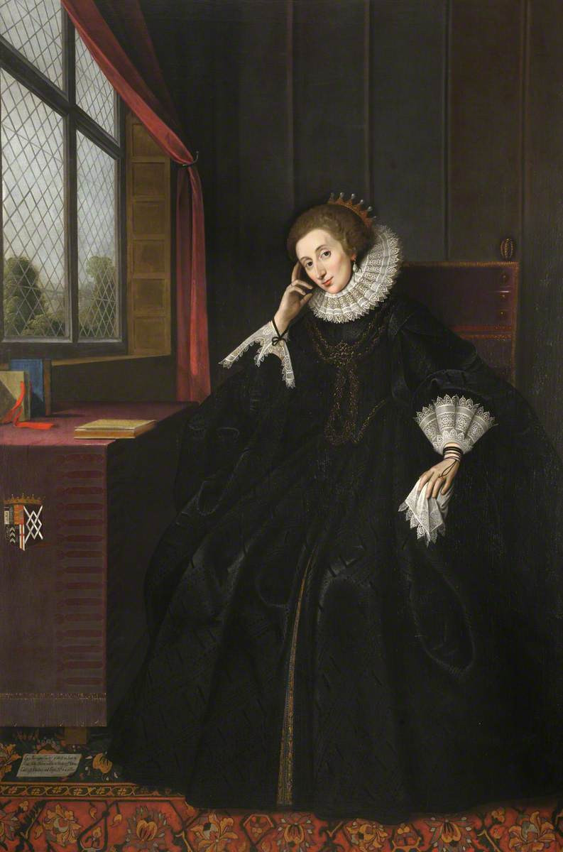 Lucy Russell, née Harington (c.1581–1627), Countess of Bedford. Image by permission of the Master and Fellows of Sidney Sussex College, Cambridge