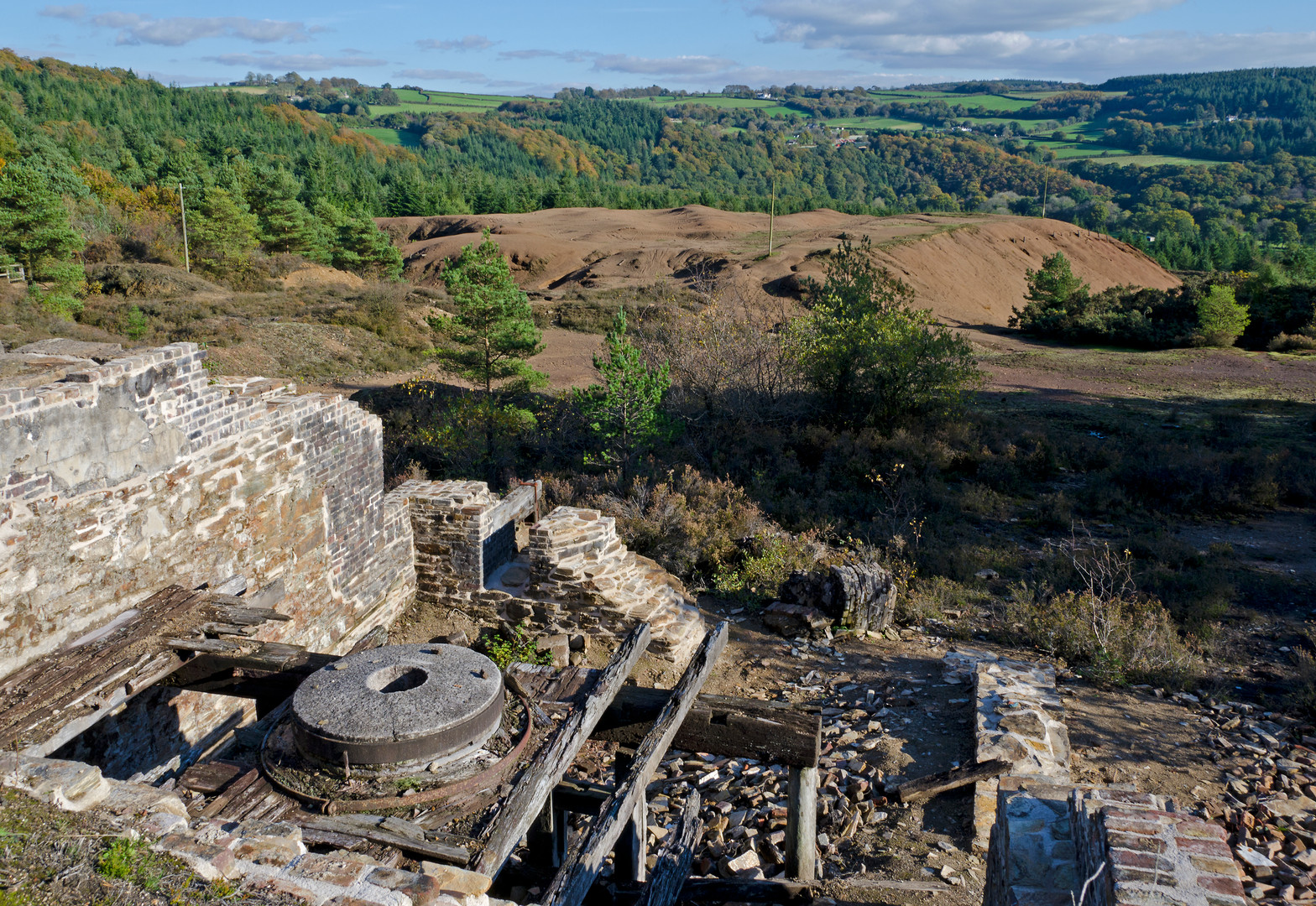Arsenic Grinder at Devon Great Consols - Ainsley Cocks © Cornwall Council