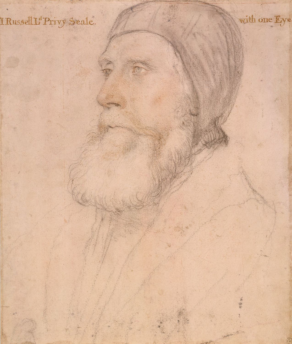 John Russell, earl of Bedford (1485-1555) by Hans Holbein the Younger. The Royal Collection.