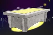 Monteeritav diivanilaud LED- valgustusega