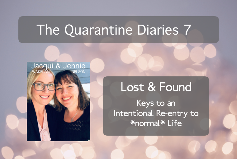 The Quarantine Diaries 7: Lost & Found: Keys To An Intentional Re-entry To *normal* Life