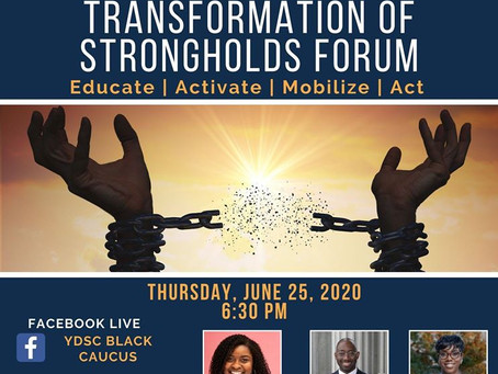 Young Democrats SC Black Caucus - Transformation of Strongholds: Educate, Activate, Mobilize and Act