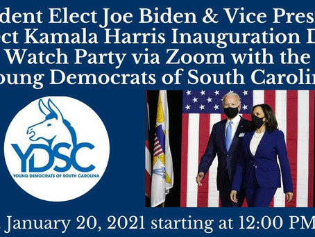 Young Democrats of SC Inauguration Watch Party
