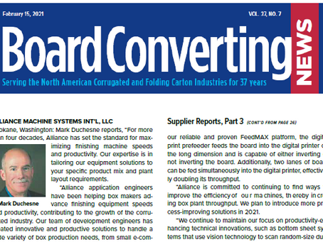 Board Converting News Publishes Supplier Report