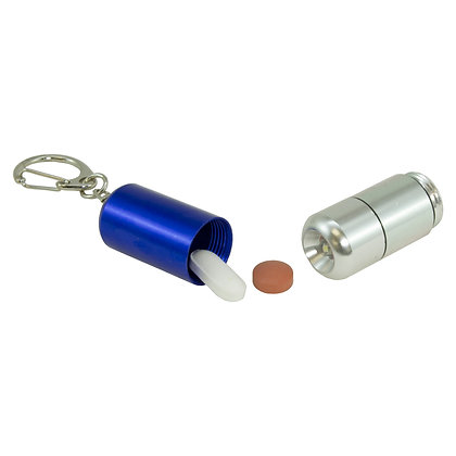 Pill Holder Key Chain with LED Light