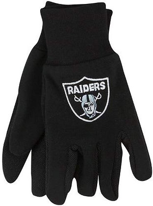 Raiders NFL Officially Licensed Utility Gloves with Rubber Grip