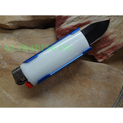 Lighter Holder With Spring Assisted Knife