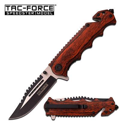 Tac Force Folding Wood Handle  Pocket Knife TF-809WD
