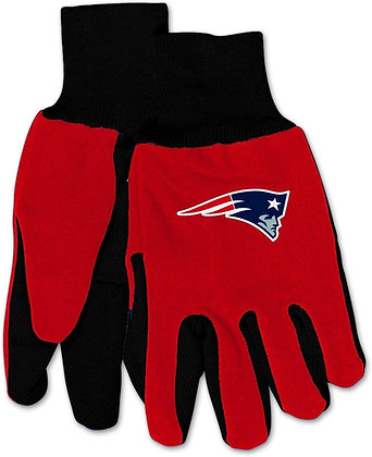Patriots NFL Officially Licensed Utility Gloves with Rubber Grip