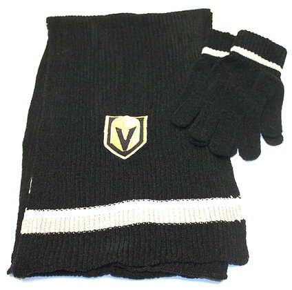 Vegas Golden Knights Chenille Glove and Scarf Set