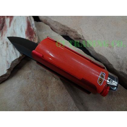 Lighter Holder With Spring Assisted Knife