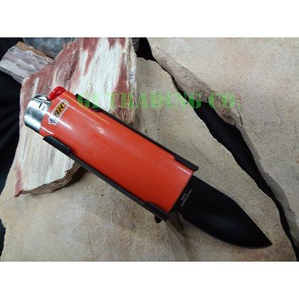 Lighter Holder with Spring Assist Knife