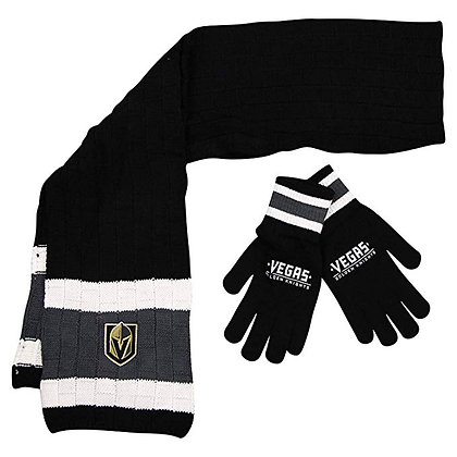 Vegas Golden Knights Glove and Scarf Set NHL Officially Licensed