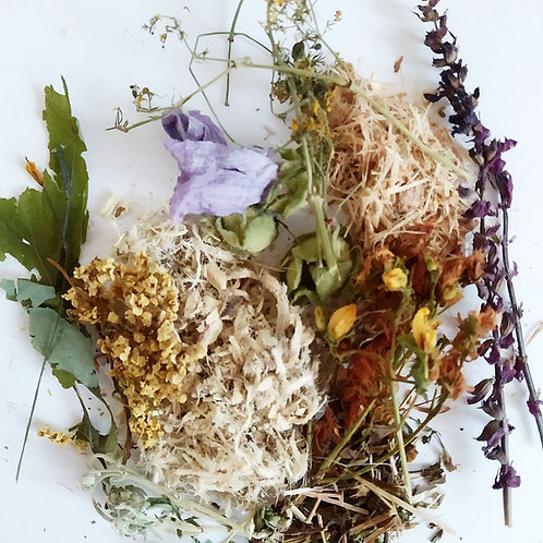 Травяной сбор при псориазе (примочки и обмывания) внешнее