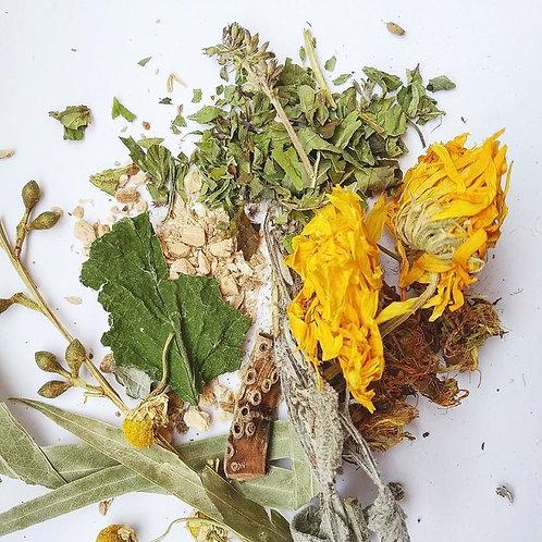 Травяной сбор при ангине и тонзиллита хронического (внешнее)