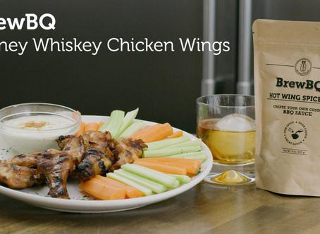 BrewBQ Honey Whiskey Chicken Wings