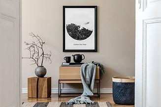 Modern scandinavian living room interior