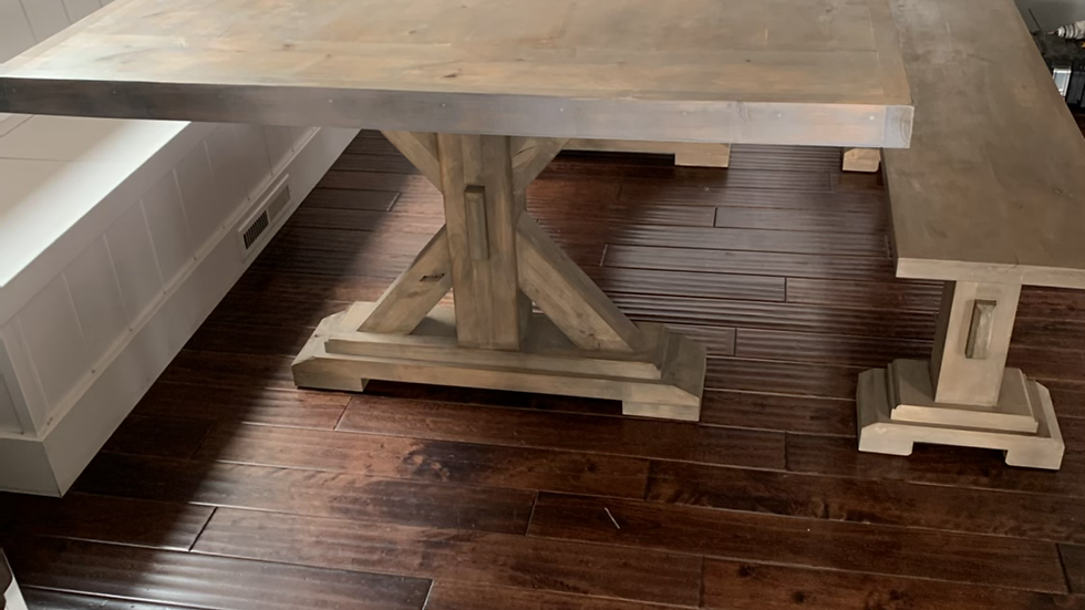 Vermont Farmhouse Table with two benches