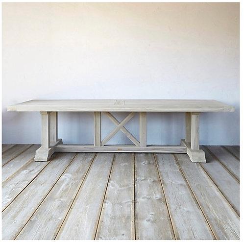 Antique White Trestle Table