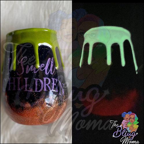 14oz I Smell Children Cauldron Glow Wine Tumbler