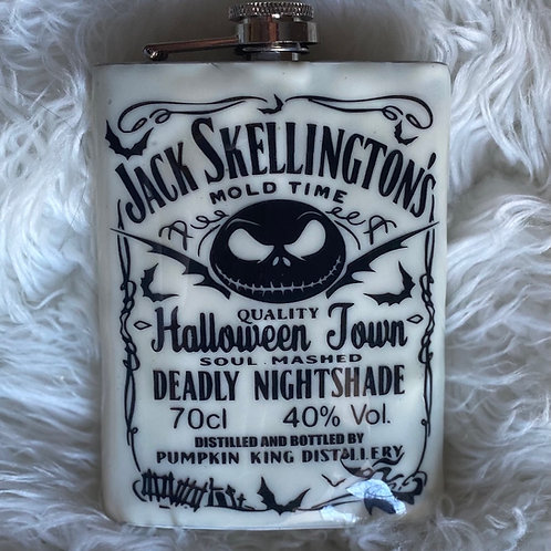 8oz Invert Jack Skellington Mold Time Halloween Town  Glow in Dark Flask