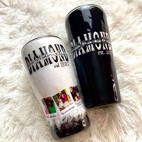 Personalized Anniversary Stainless Steel Picture Tumbler