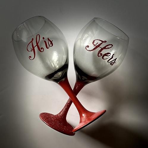 Stemmed Wine Glass Set of 2