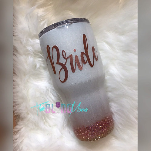 Bridal Rose Gold Ombr� | Stainless Steel Tumbler