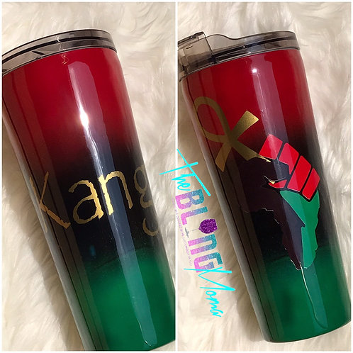 Red Black Green Africa Pride Ankh Tumbler