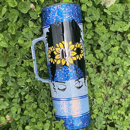 Sunflower Blues Stainless Steel Tumbler