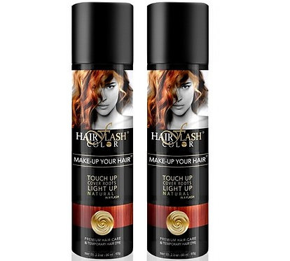 HAIR FLASH COLOR Pack X2 RED COOPER