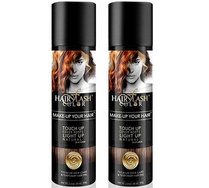 HAIR FLASH COLOR Pack X2 DARK BROWN