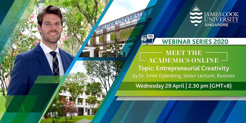 Meet the Academics Online - Webinar Series 2020 James Cook University Singapore