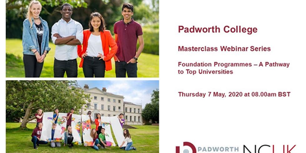 Padworth College Masterclass Webinar Series